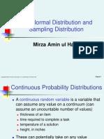 Normal Distribution and Sampling Theory