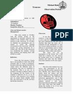 teachers journal-observation period