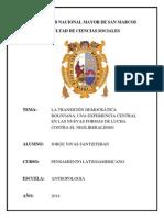 La Transición Democrática Boliviana