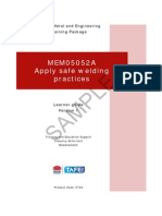 MEM05052A Apply Safe Welding Practices - Learner Guide