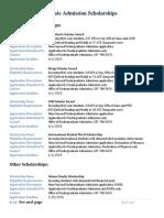 Undergraduate Admission Scholarships 2015-2016