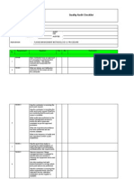 Quality Audit Checklist for Flange Management