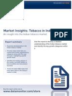 tobacco market india