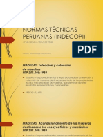 Algunas Normas Técnicas Peruanas.
