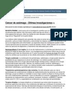 Cancer.net - Cancer de Estomago - Ultimas Investigaciones - 2013-07-30