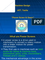Power Screw & Gears