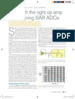 Driving SAR ADCs