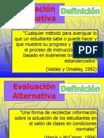Forma Alternativas de Evaluacion
