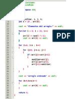 Codigo en Lenguaje C++