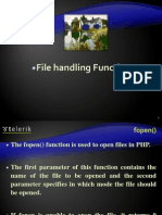PHP File Handling Function