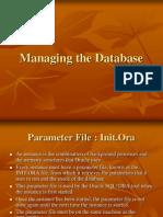 SQL Managing the Database