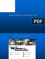 Setup of SQL Server 2000 Client Tools