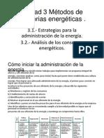 Unidad 3 Métodos de Auditorias Energéticas
