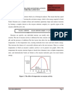 Exp 3 Biochemistry Enzyme activity