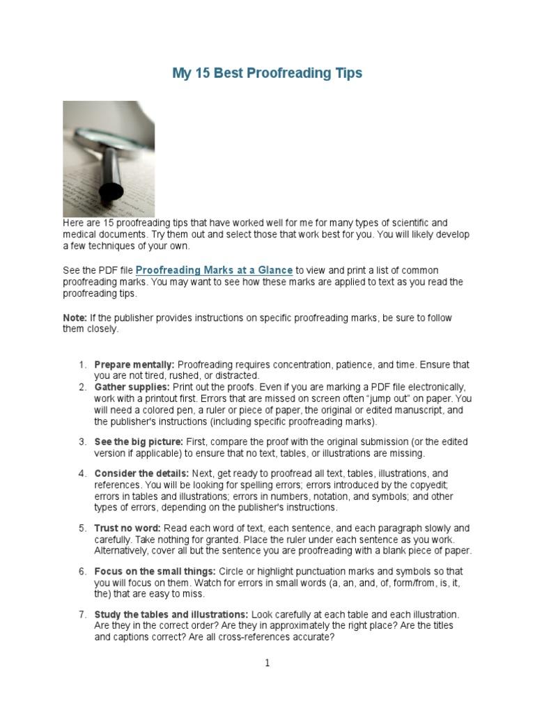 Proofreading tips proofreading copy editing buycottarizona Choice Image