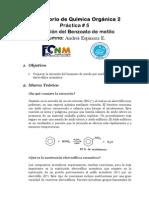 P5 Nitracion Del Benzoato de Metilo
