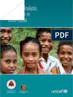 Situation Analysis of Children in Timor-Leste