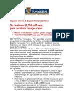 com0982 011206 Se destinan $1,050 millones para combatir rezago social:EHF