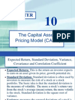 Ch-10 (Return and Risk-The Capital Asset Pricing Model)