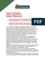 com0984 031106 Espera a Tamaulipas avance sustancial con Calderón