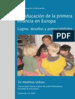 La educación de la primera infancia en Europa