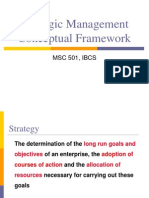 Strategic Management - Conceptual Framework