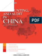 Tax, Accounting & Audit in China 2015 (7th Edition) - Preview