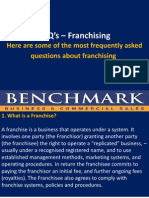FAQ's – Franchising