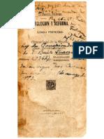 Revolución y Reforma, Génesis de la Revolución Constitucionalista. M. Aguirre Berlanga.