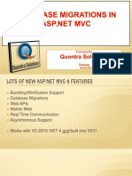 Database Migrations in MVC Presented by Quontrasolutions