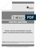 Practice Paper - Bexley Selection Test