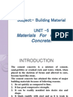 5 Materials of Cement Concrete