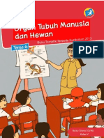 Kelas 05 SD Tematik 6 Organ Tubuh Manusia Dan Hewan