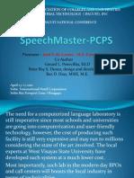 Locally Made Digital Language Laboratory (SpeechMaster-PCPS)