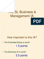 Business Management IB Internal Assessment IA SL