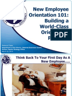 New Employee Orientation 101- the basic skill