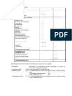 Cost Calculations Tables Design Excercise