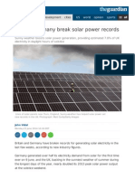EU Basks in Solar Glory - UK and Germany Energy Breaks Records!