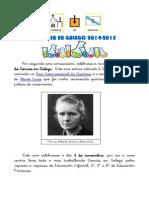 Ciencia en Galego 2014-2015