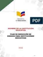 Formato Plan de Reduccion de Riesgos MinEduc