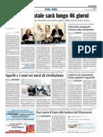 Università, inaugurato il nuovo anno accademico - Il Corriere Adriatico del 28 novembre 2014