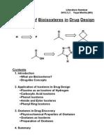 aplication bioisoster in drug design by Lit_Y_Morita_M1