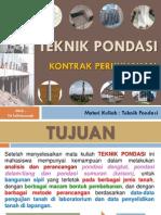 Materi Teknik Pondasi 2014