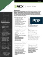 RDX MySQL Team Resume
