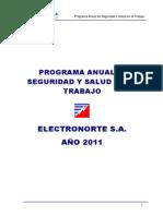 Programa Anual de Segurida 2011 - Ensa