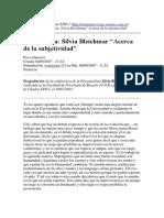 Conferencia Silvia Bleichmar Acerca de La Subjetividad