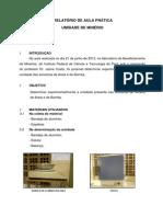 Relatório Aula Prática Trat. de Minérios