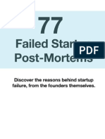 77 Failed Startup Post Mortems