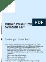 Prinsip-prinsip Pada Sambungan Baut