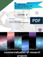 Presentation Chapter8-Dissemination Update